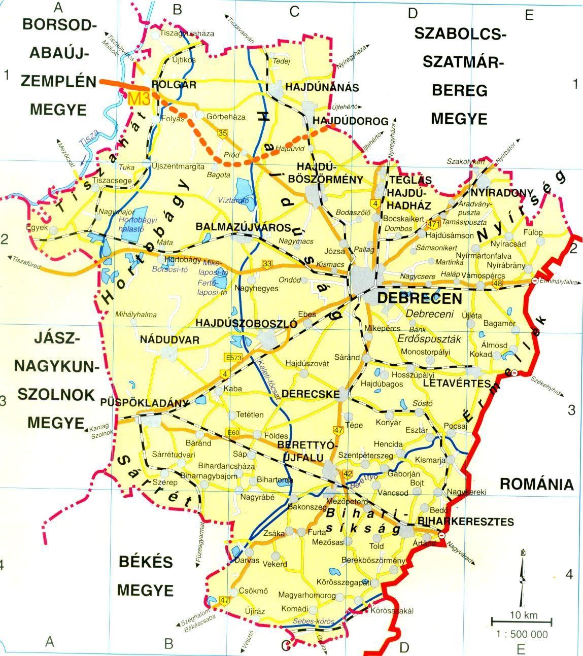 hajdú bihar megye térkép Így jut el hozzánk hajdú bihar megye térkép